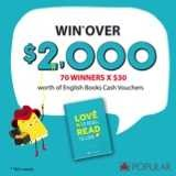Win over $2,000 worth of English Books Cash Vouchers